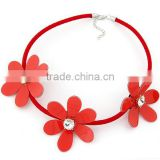 ODM/OEM Jewelry Factory rope necklace, nylon rope choker necklace, hawaii flower necklace