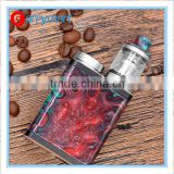 Alibaba Express Hottest Vape resin box mod stabilized wood box mod funky 60w vape resin box mod