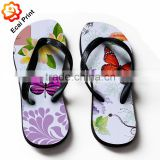 2016 hot sale customize lady flip flop sandals with pattern                                                                         Quality Choice
