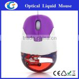 filled in aqua wired optical mouse for promotive gift