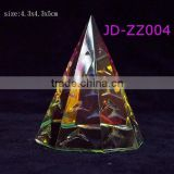 Beautiful crystal pyramid paper weight with christmas tree in china
