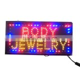 Flashing Animated BODY JEWELRY LED neon Signs store shop salon light display open