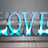 love words LED channel letter sign /wedding LED illuminated LOVE 3d metal vintage letter lighting /Wedding Metal LOVE