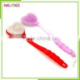 heart shape double sides plastic body massage bath brush