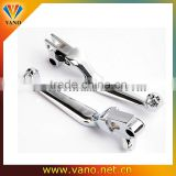Electric Bike Chrome Adjustable Double Motorcycle Brake Clutch Lever