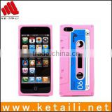 Best quality mobile phone cassette tape silicone case for iphone