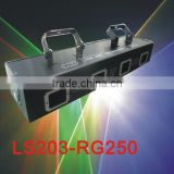 Four Heads Red&Green 250mW Stage Laser Light for Disco Party