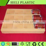 12 compartments filled drink blister plastic packaging tray/carton