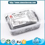 Frozen black seasoned flying fish roe tobiko
