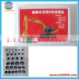 Repair O-ring kit box for Kato Excavator o-ring assortment / grab o-ring box China manufacturer factory
