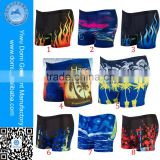 Domi Stock Cheapest Many Patterns Swimwear Men Swimming Boxer Shorts