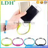Mobile Phone Cables Bracelet Charging 5S USB Data Cable For Apple iPhone 5 6 Plus iPad ios Charger Wholesale