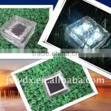 F Solar Ice Glass Brick LED floor lamp, solar garden light, underground paver light