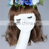 Stock Hot New Artificial Flower Head Wreaths Hair Bridal Wedding Wreath Flower Accessory Sets