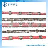 brand new Xiamen making plastic diamond wire saw for marble block squaring with high quality