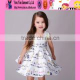 2016 new arrived boutique fashiona baby little girl dresses factory price kids names of girls dresses