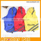 High Quality Waterproof double-layer Reflective Safety Outdoor Pet Dog Raincoats