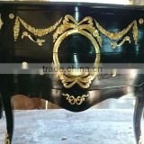 Baroque black commode