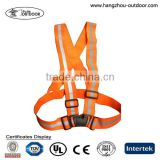 Orange running riding simple warning reflective safety belt vest