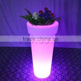 Tall Plastic round LED Planter Port/LED Flower Pot Lighting For Outdoor Wedding Decoration