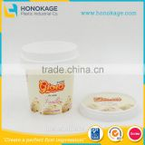 In mould labelling disposable ice cream containers,white ice cream container with spoon,plastic ice cream containers