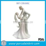 Funny Bride Groom Wedding Decoration Ceramic Cake Topper