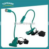 High quality rechargeable clip lamps led bedside flexible snake led reading lamp