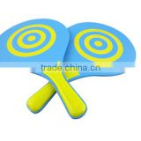 cheap price high quality wood beach rackets,beach paddle ball set