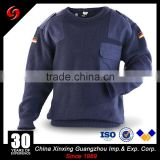 600gram navey blue Mens army pullover military sweater Military thick wool knitting sweaters for men