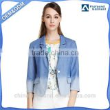 OEM Service Latest New Fashion Designer Denim Blazers For Women Laides Casual Jeans Jackets