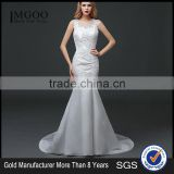MGOO Hot Sale Customised Mermaid White Lace Wedding Dress Sleeveless Sexy Bridal Dress Underwear 100 Usd Dress