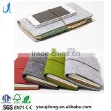 Novel logo custom shorthand spiral binding journal diary notebook and felt cover with elastic band