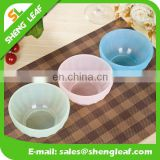 Transparent PMS colorful Silicone lunch food serving bowls for kids