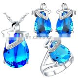 modern design for women beauty Crystal diamond necklace set