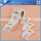 Full color printing custom paper adhesive sticker printing in roll