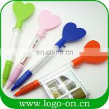 New design ad banner pen heart shaped promotion banner pen
