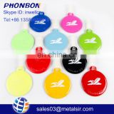 Hot selling promotional gifts colorful PVC round luggage tag for traveling