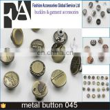 New fashion Factory price custom color metal brass snap button for clothing