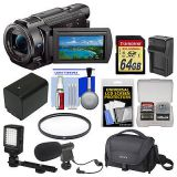 Sony Handycam FDR-AX33 Wi-Fi 4K Ultra HD Video Camera Camcorder Kit