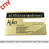 Custom  Printing Machines Business Card,Cheap Metal Gold Plated Gold Edge Business Cards