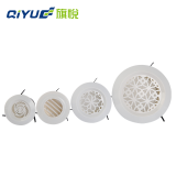 Home Fresh Air Cooling Vents System 95mm Air Vent Grille Round Louver Exhaust Fan Air Conditioning Outlet Bathroom Vent