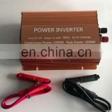12V 1000W 2000W inverter DC12V to AC220 battery power inverter 50Hz USB Digital Display 2 fans