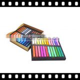 Popular bright colored chalk for hair