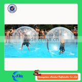PVC best quality for adult rolling ball water fountain, inflatable water rolling ball, sticky water ball