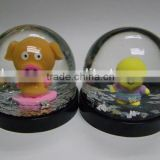 Wedding Decoration Snow Globe, Plastic Resin Figure Snow Ball