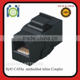 black CAT6 utp rj45 8P8C connector