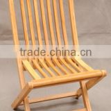 Quality guarantee folding solid bamboo outdoor chair foldable chair