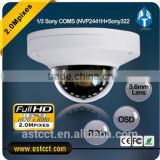 1/2.8 Inch sony cmos 1080p AHD Camera 3.6mm fixed Lens 360 degree ir color mini dome camera rotation 2.0MP ahd cctv cameras