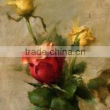 Special Design Classical Style Modern 3d Rose Flower Oil Painting on Canvas for Home Decoration