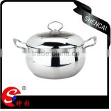 Food grade stainless steel steamer pot + stainless steel stock cooking pot / soup pot